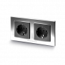 GigaWatt   G-044 Duplex   Double Schuko Wall Socket