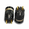 IeGo   8085BK & CT Gold plated   Schuko Plug