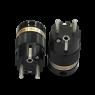 IeGo   8065BK & CT Silver plated   Schuko Plug