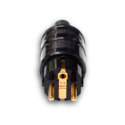 HiFi-Tuning | Tellurium copper | Gold plated | Ultimate Schuko Plug