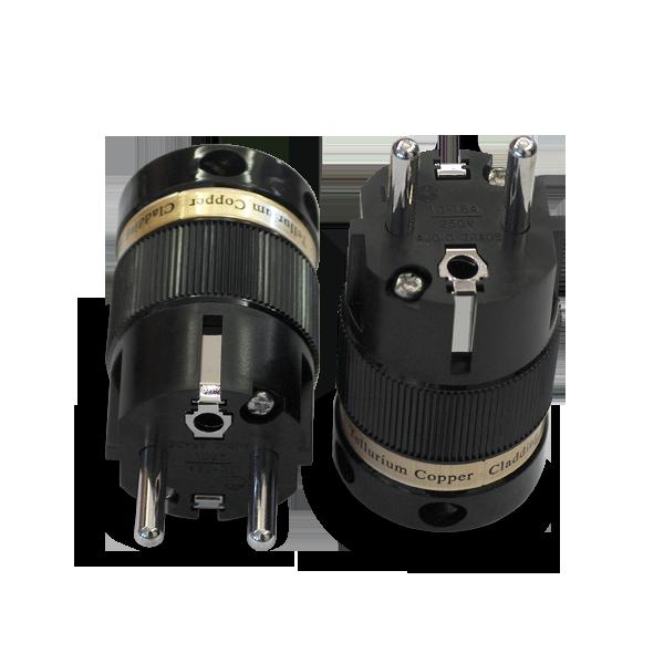 IeGo   8075BK Rhodium plated   Schuko Plug