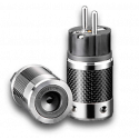 Furutech | FI-E50(Rhodium) | Shielded Schuko Plug