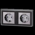Furutech | FT-SWS-D(Rhodium) | Double Schuko Outlet