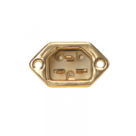 HB-Design   IEC 320/C22 Inlet   Gold plated