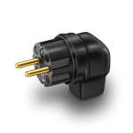 HiFi-Tuning | 90° Angled, gold plated | Schuko Plug