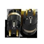 IeGo | 8085BK & CT Gold plated | Schuko Plug
