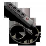 KE-POWER STRIP | 4-Way Schuko version | (demo, a few little scratches)