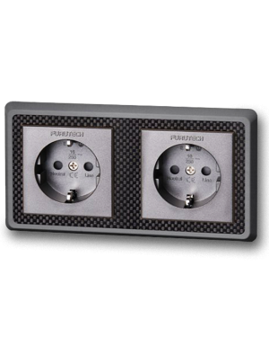 Furutech | FT-SWS-D(Rhodium) | Double Schuko Outlet