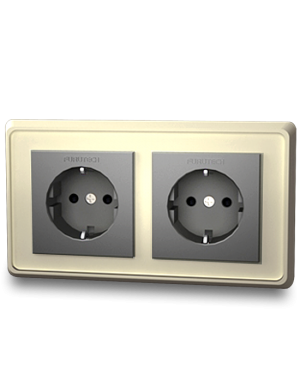 Furutech | FP-SWS-D(Rhodium) | Double Schuko Outlet