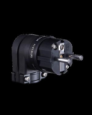 Furutech | FI-12L (Rhodium) | Angled Schuko Plug