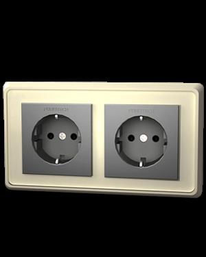 Furutech | FP-SWS-D(Rhodium) | Double Schuko Outlet