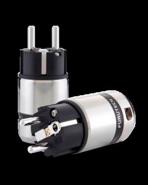 Furutech | FI-48M(Rhodium) | Shielded Schuko Plug