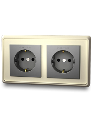 Furutech | FP-SWS-D(Gold) | Double Schuko Outlet