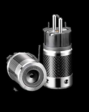 Furutech | FI-E50(Rhodium) | Shielded Schuko Plug