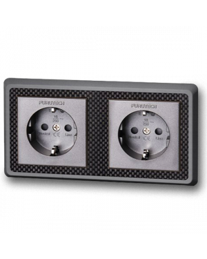 Furutech | FT-SWS-D(Rhodium) NCF | Double Schuko Outlet