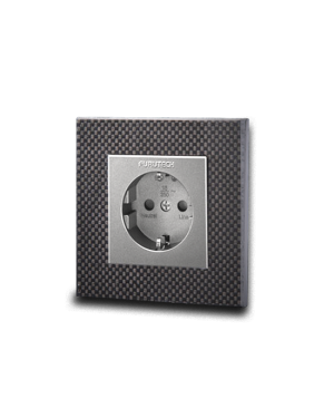 Furutech | FT-SWS(Rhodium) | Schuko Outlet