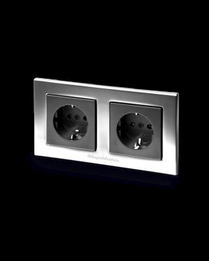 GigaWatt | G-044 Duplex | Double Schuko Wall Socket