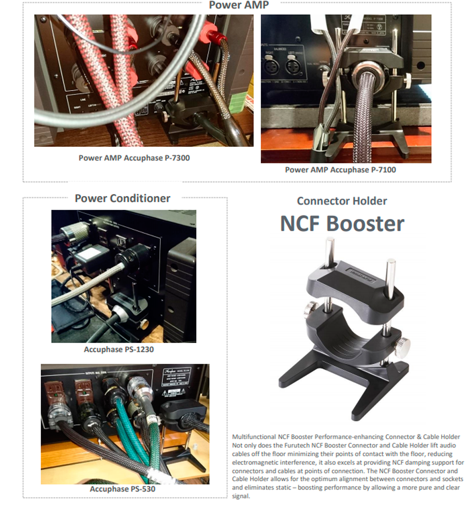 Furutech NCF Booster placement instructions